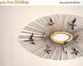 ON SALE Mid Century Curtis Jere Metal Wall Sculpture | Birds Over The Sun