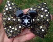 Star wars empire mickey hair bow