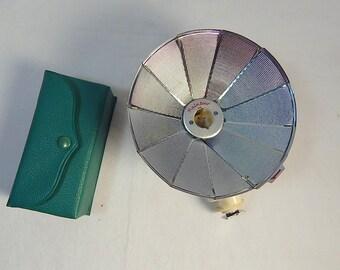 Vintage Rainbow Gun Flash Pocket Size Mid Century Photography Green Vinyl Case Prop