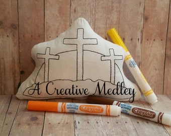 Doodle Its Crosses Stuffed plush Embroidery Design-Instant Download