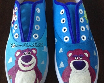 Toy Story 3 Inspired Hand Painted Shoes Any design, Any size :)