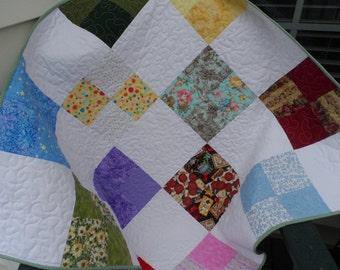 Baby Quilt - Patchwork Quilt - Crib Quilt  - Lap Quilt - Colorful Quilt -  Boy Quilt - Girl Quilt - Homemade Quilt - Patchwork Quilt