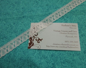 1 yard of 5/8 inch White chantilly lace for bridal, baby, lingerie, hair accessories by MarlenesAttic - Item 2K