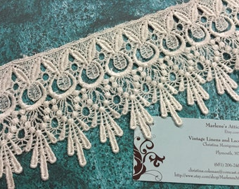 Ivory venise lace, 1 yard of 4 inch Ivory Venise lace trim for bridal, wedding, jewelry, housewares, couture by MarlenesAttic - Item 7V
