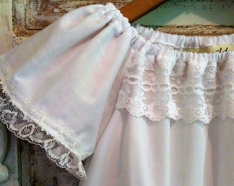 Boho Flower Girl Dress Size | White Washed Cotton Dress | Boho Baby Dress | All Sizes Flower Girl Dress | Ellie Ann and Lucy