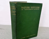 Antique Natural History Book - Nature Sketches in Temperate America - First Edition - 1911 - Illustrated - Biology