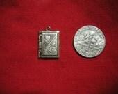Vintage Valentine Picture Frame Sterling Silver Charm