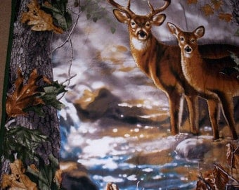 Hand Quilted RealTree DEER Wall Hanging