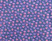 Vintage Cotton Quilting Fabric, Cotton Floral Fabric, Pansy Fabric, Pink and Purple, Cotton Fabric, Sewing Fabric - Nearly 1 Yard - CFL1713