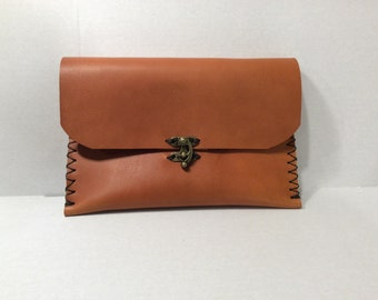 Tan Pouches Clutches/Wristlet Wallets For Women/ Leather Wallet Women Accesoories