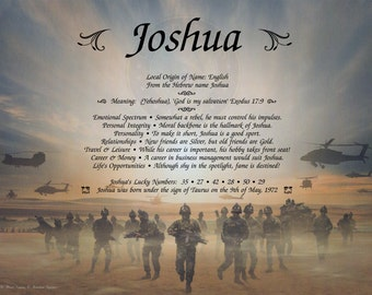 Armed Forces Personalized Name Meaning Print