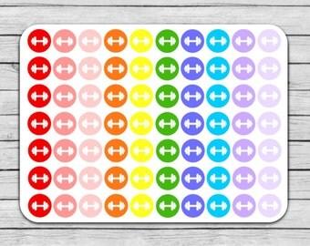 Weights Planner Stickers