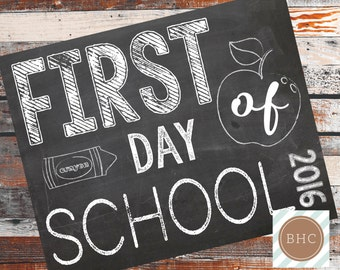 First Day of School. First Day of Preschool Signs. Back to School Sign. First Day of Preschool. Back to School. 8x10. Digital Download.