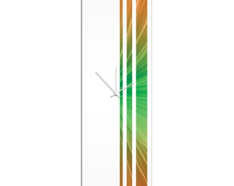 Large Modern Clock 'Seasons Triple Stripe Clock' by Adam Schwoeppe - Wall Decor Minimalist Accent Piece on Acrylic
