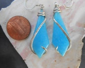Smithsonite Silver Wrapped Earrings