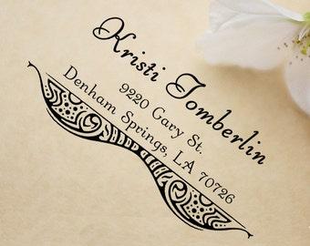 Return address stamp,SELF INKING custom address stamp,personalized wedding address stamp,family address stamp,S16