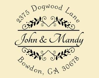 Self inking custom Return address stamp,personalized wedding address stamp,family address stamp,R35