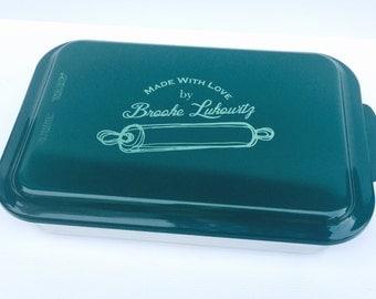 Personalized Cake Pans, Cake Pan,  9x13 Engraved Pan, Name Engraved Pan, Custom Cake Pan, Kitchen Gift Pan, Personal Wedding Anniversary