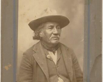 Native American cabinet card photo Shawnee Oklahoma Territory antique original 1800s 19th century