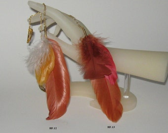 Feather Hair Clip  /  Feather Hair Accessories / Long / Short / Orange/White/Red/Fun Colors