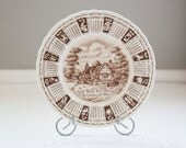 Royal Staffordshire Calendar Plate From 1962