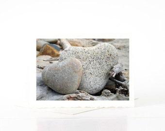 Heart Shaped Rocks Photos, Blank Photo Greeting Cards, Anniversary, Birthday Gifts for Wife, Husband, Boyfriend, Girlfriend, Him, Her