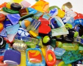 Mosaic Supplies, 160 Pieces of Bright & Colorful Glass Scrap