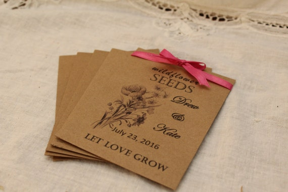 Seed Packets Packet Favors Wedding