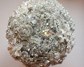 Ready to Ship Custom Brooch Bouquet all crystal