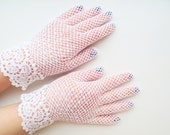 Crochet white lace gloves,bridal accessory,summer fashion,vintage lace,crochet jewelry,victorian wedding,evening dress,first communion glove