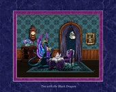 Tea with the Black Dragon. An 8x10 open edition print