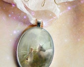 Fairy Pendant   Beautiful Silver or gold, 'The Journey Home' comes with silk ribbon tie