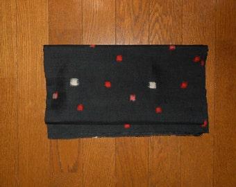 "SUMMER SALE 50%off!! Antique kimono fabric - Meisen, Square dots (H46"":W13.9"")"