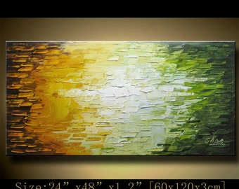 contemporary wall art,, Modern Textured Painting,Impasto  Landscape  Textured Modern Palette Knife Painting,Painting on Canvas by Chen HH17