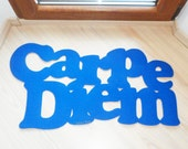 "Carpe Diem floor mat. Custom doormat. Positive sign: ""seize the day"""