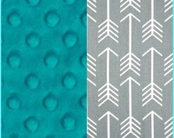 Carseat Blanket Premium Duck Grey Arrow Minky Blanket Carseat Blanket Crib Blanket Stroller Blanket Newborn Blanket