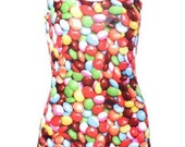 Smarties swimsuit. Smarties bodysuit. High waist. Dance wear. Rave wear. Rainbow serpent.