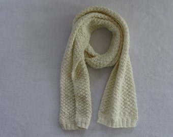 The Color of Cream Hand Knit Scarf