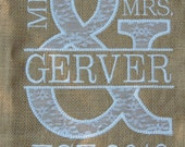 Custom Order Mr&Mrs Burlap Sign - Gerver