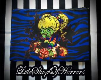 S A L E Rainbow Zombie Cosmetic Bag