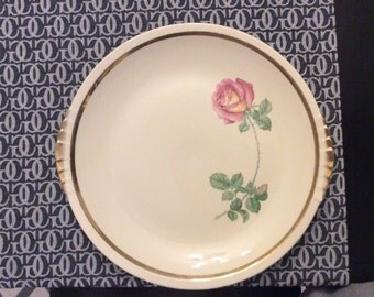 Paden City Pottery rose with gold trim