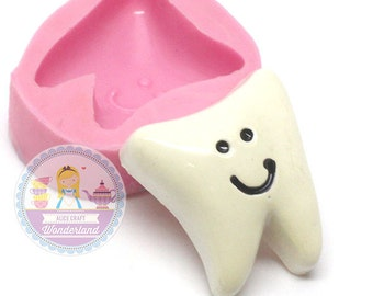 Tooth Cabochon 25mm Mold Flexible Silicone Bakery Chocolate Fondant Mold Cupcake Deco Candy FIMO 660m* Food Safe BEST QUALITY