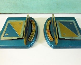 Vintage Trick-Master Automatic Bridge Counter Blue and Gold