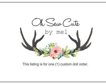 Custom Handmade Doll, Custom Fabric Doll, Soft Doll, Ballerina Doll, Mermaid Doll, Custom Ooak Doll