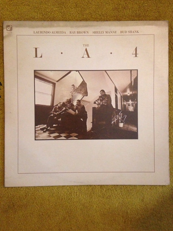 The LA4 Jazz Record LP 1970s Laurindo Almeida • Shelly Mann • Ray Brown • Bud Shank album