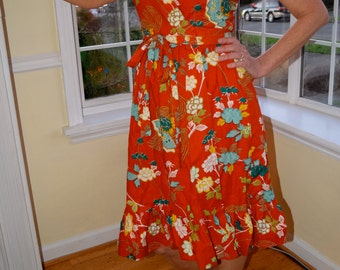 Adorable vintage Hear Say wrap dress. Size Medium