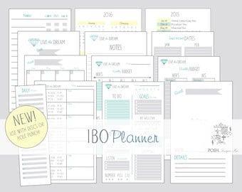 IBO Planner - 5.5 x 8.5