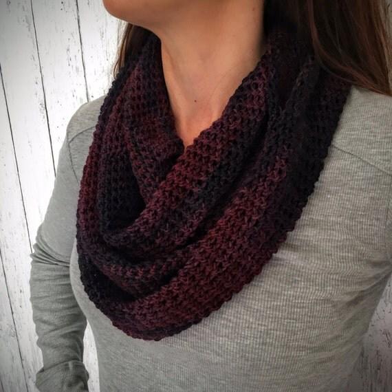 Crochet Scarf Pattern- Winter Feather Infinity Scarf- Sock ...
