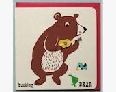 Busking bear Card