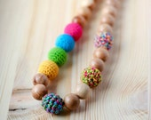 SALE Nursing necklace for mom natural Teething colorful necklace Eco-friendly jewelry Mother's Day  gift for her under 20